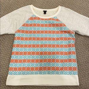 Jcrew short sleeve sweatshirt